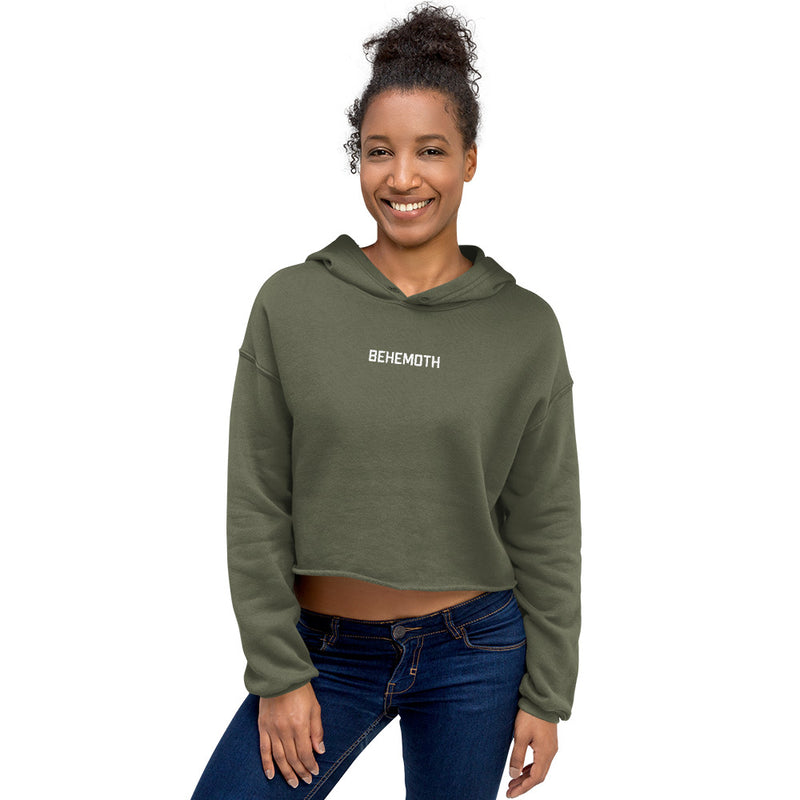 Women's Behemoth Cropped Hoodie - Military Green - Behemoth Boxing