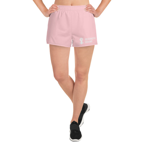Women's Training Shorts - Pink - Behemoth Boxing