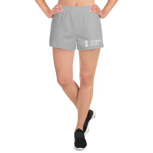 Women's Training Shorts - Grey - Behemoth Boxing