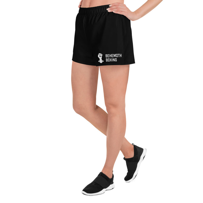 Women's Training Shorts - Black - Behemoth Boxing