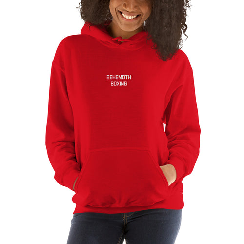Women's Behemoth Boxing Hoodie - Red - Behemoth Boxing