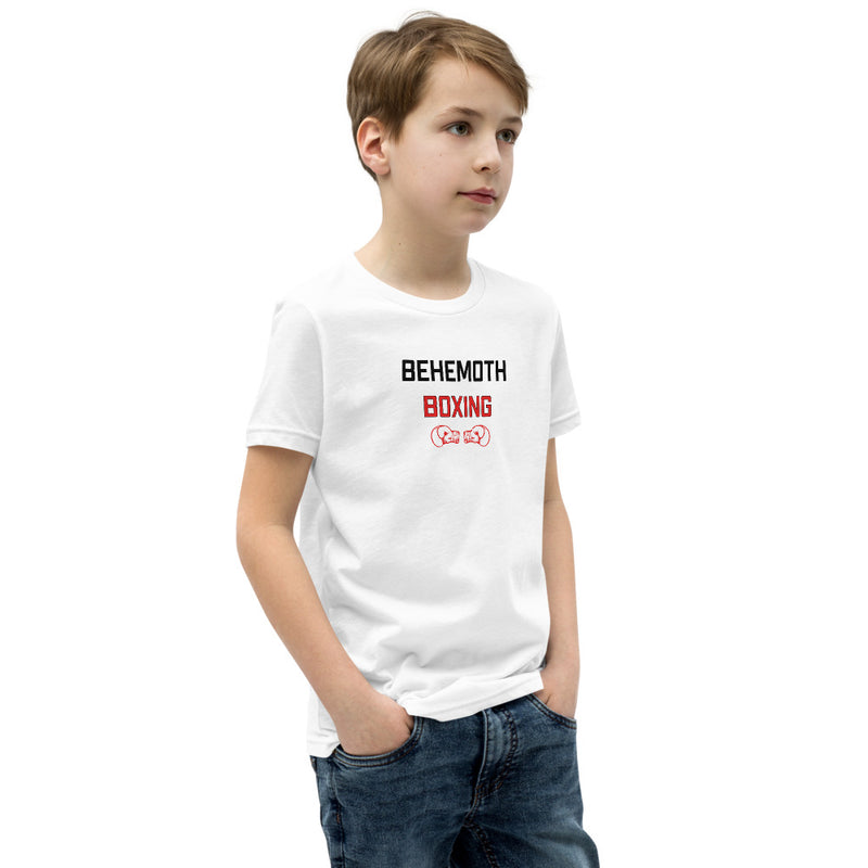 Behemoth Junior T-Shirt - White with Red - Behemoth Boxing