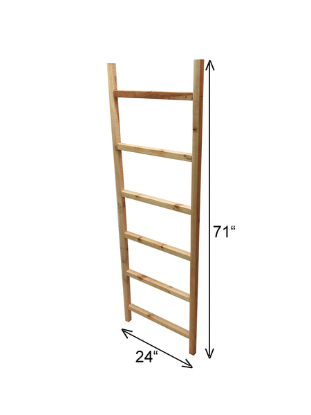 "6' Cedar Ladder Trellis 24"" Wide, Plant Support Structure 