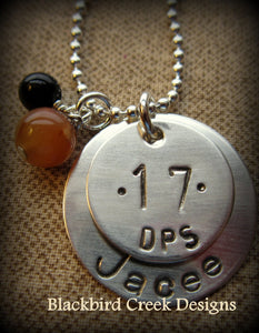 Graduation Pendant- Sports Jersey Number- High School- College