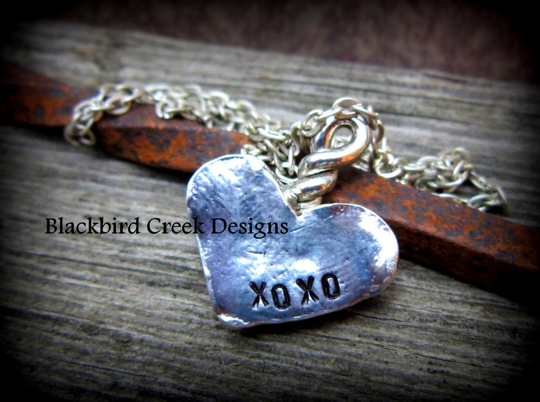 Hugs and Kisses Heart Shaped Necklace