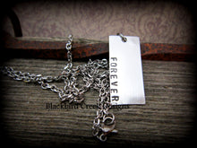 Load image into Gallery viewer, Pewter Rectangle Necklace
