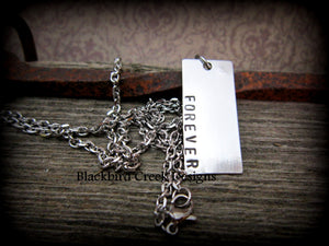 Pewter Rectangle Necklace