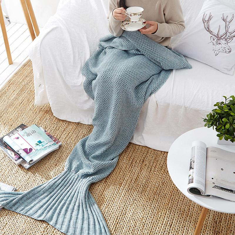 Mermaid Blanket HGHOM Gray