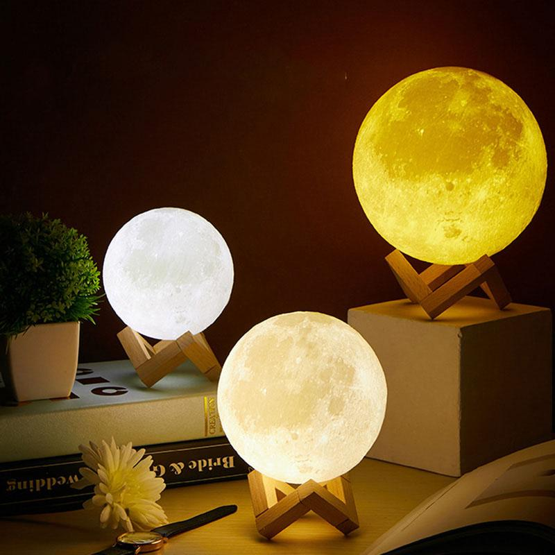 3d Moon Light Lamp - HGHOM