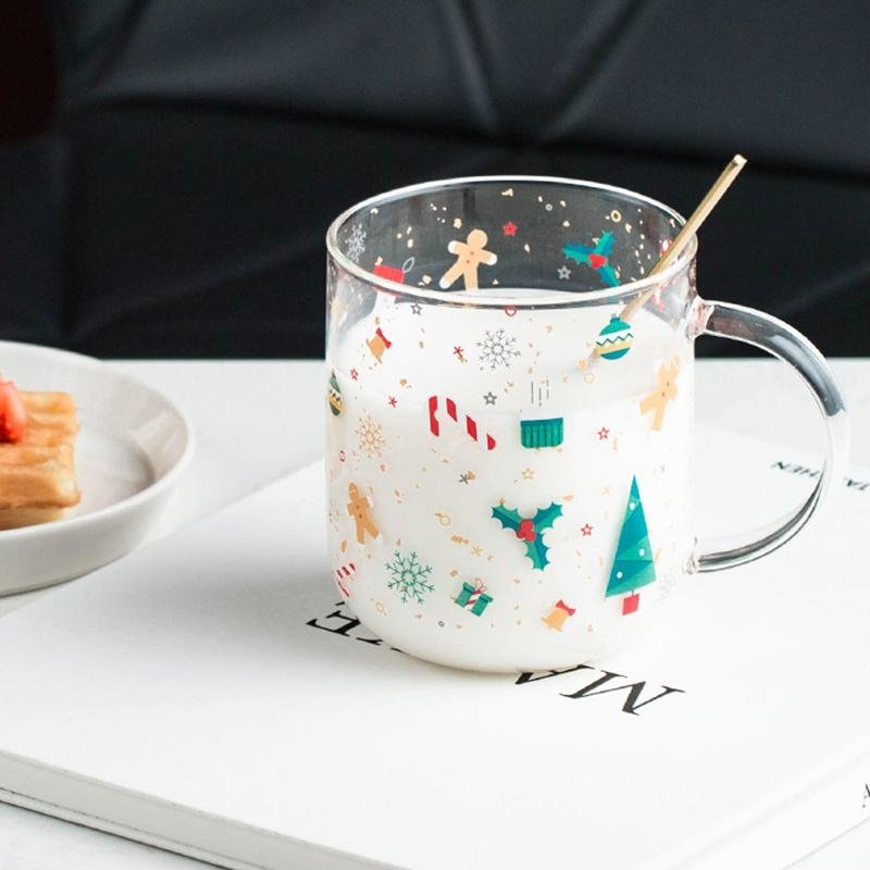 """Childlike"" Christmas Glass Cup - HGHOM"