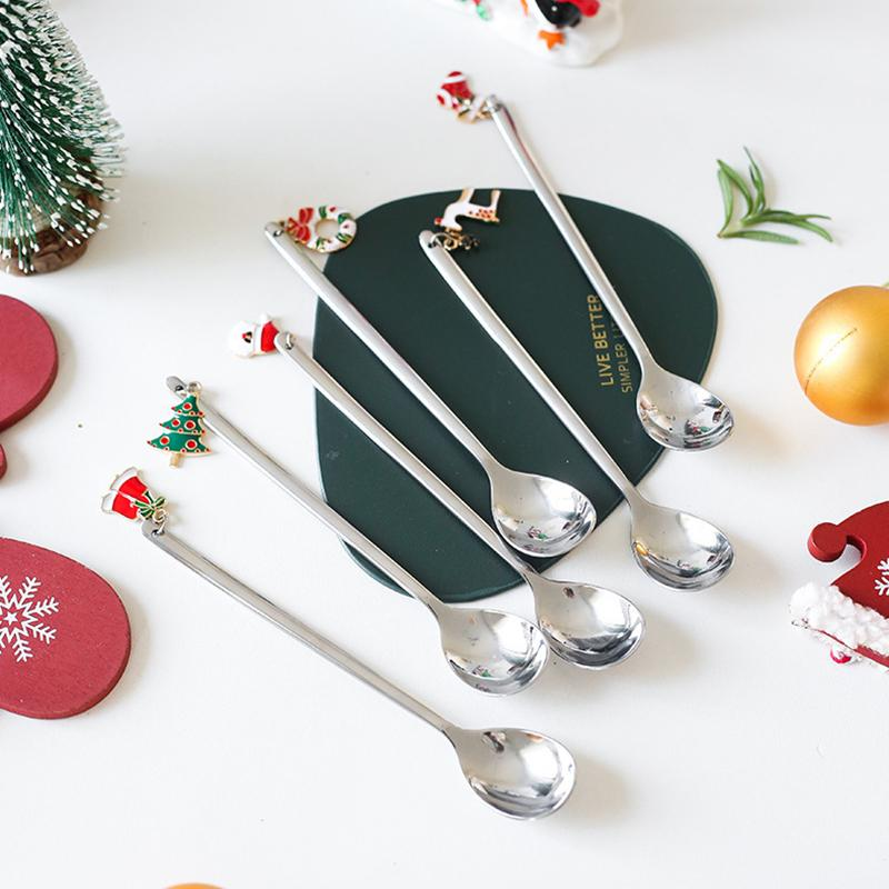 Christmas Dessert Spoon Six Set - HGHOM