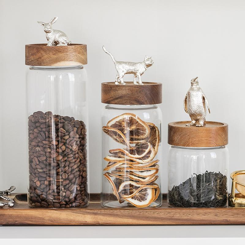 Cute Animal Glass Storage Jar - HGHOM