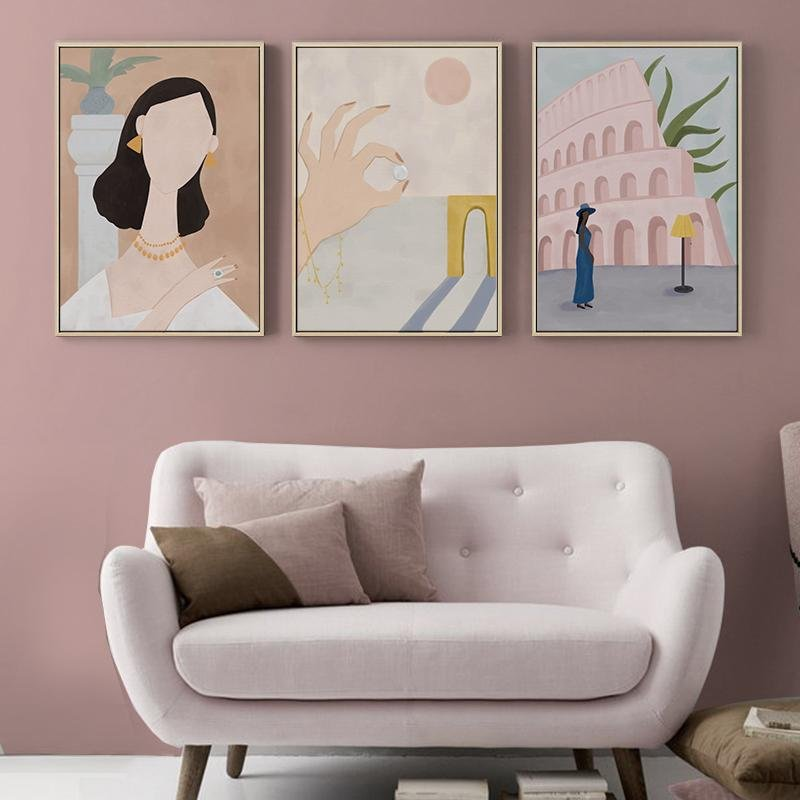 """Elegant Woman"" Canvas Art Print - HGHOM"