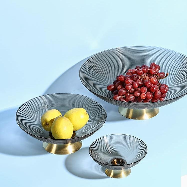 """Finding"" Glass Fruit Plate - HGHOM"