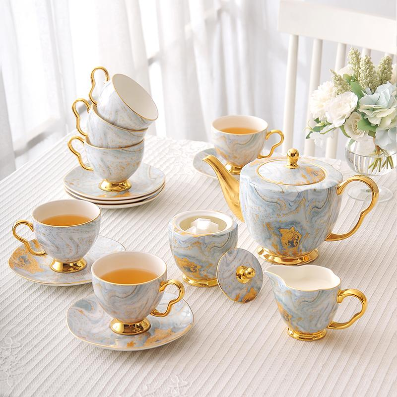 "Fine Bone china ""Morning Light"" Tea Pot Set - HGHOM"