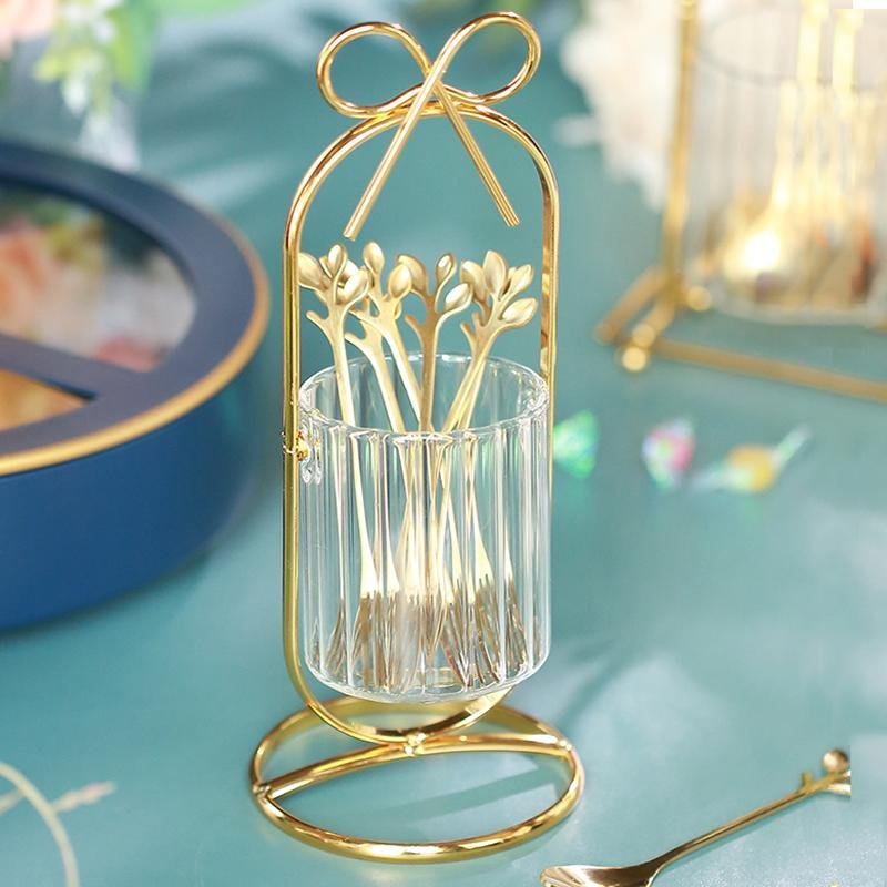 Glass Dessert Spoon Storage Jar - HGHOM