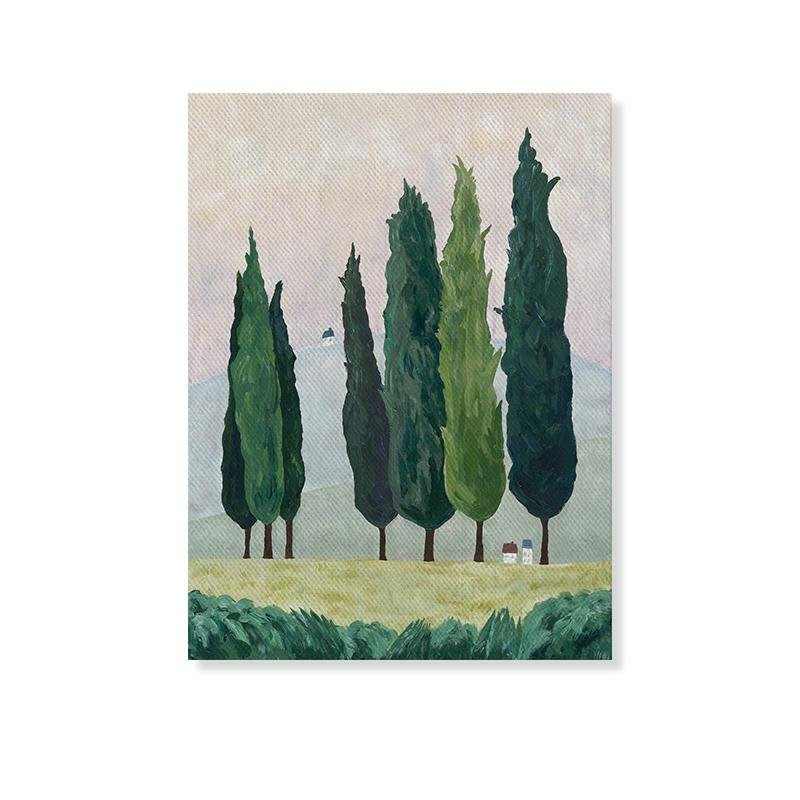 """Mountain Forest Home"" Canvas Art Print - HGHOM"