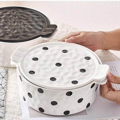 Themis Speckled Baking Bowl (With lid) HGHOM