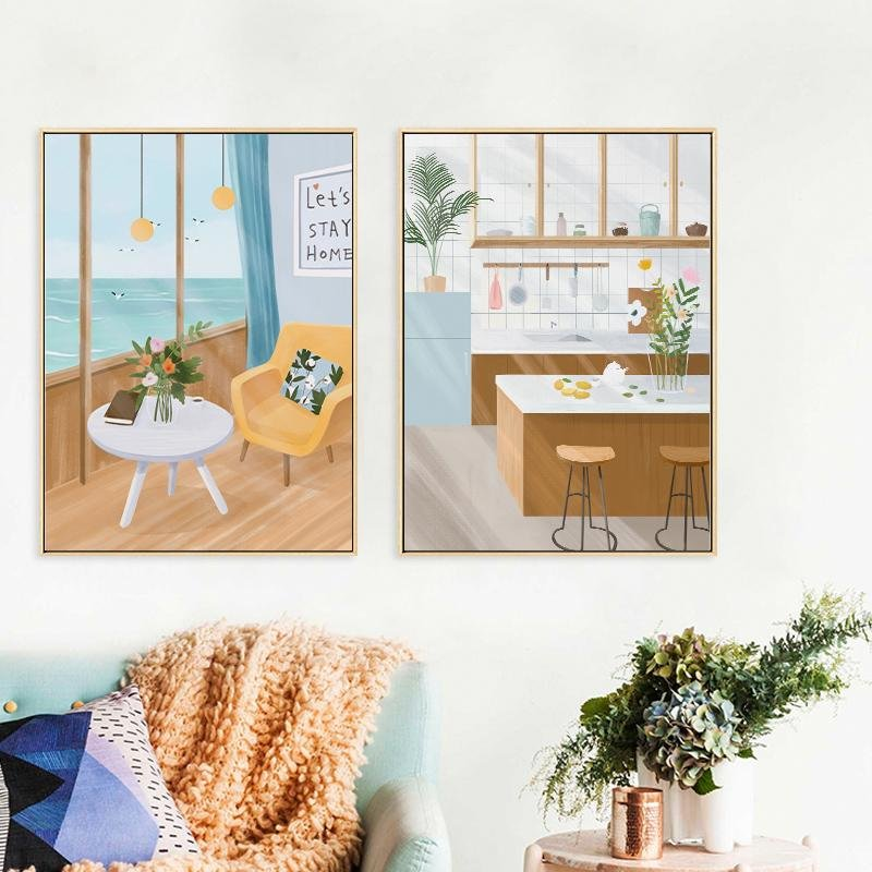 """Sea"" Canvas Art Painting - HGHOM"