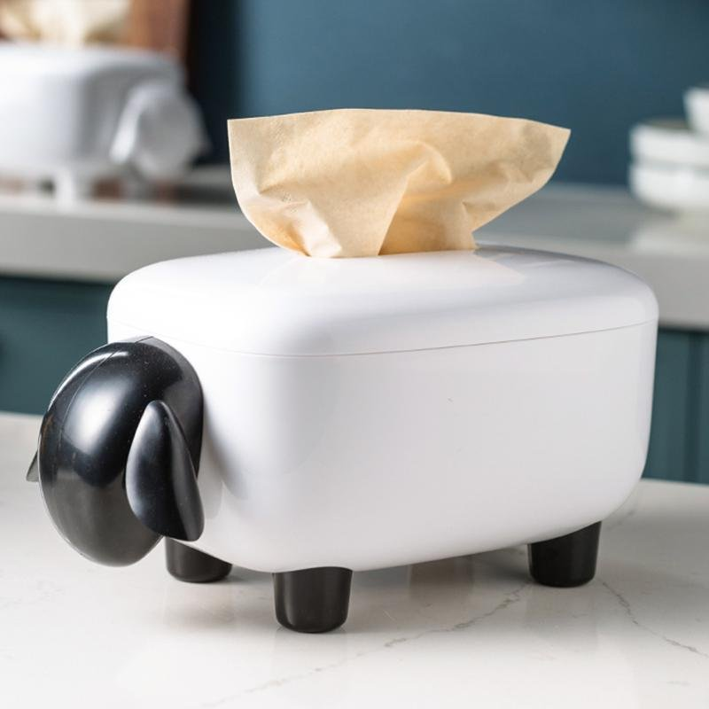 """Sheep"" Paper Towel Storage Box - HGHOM"