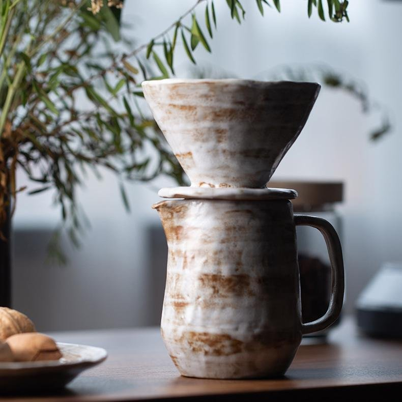 """Stoneware"" Pour Over Coffee Maker - HGHOM"