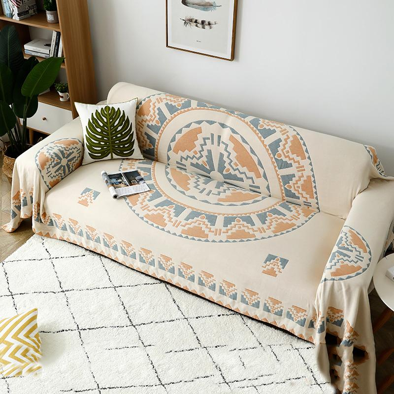 """Sun"" Double-Side Cotton Sofa Blanket - HGHOM"