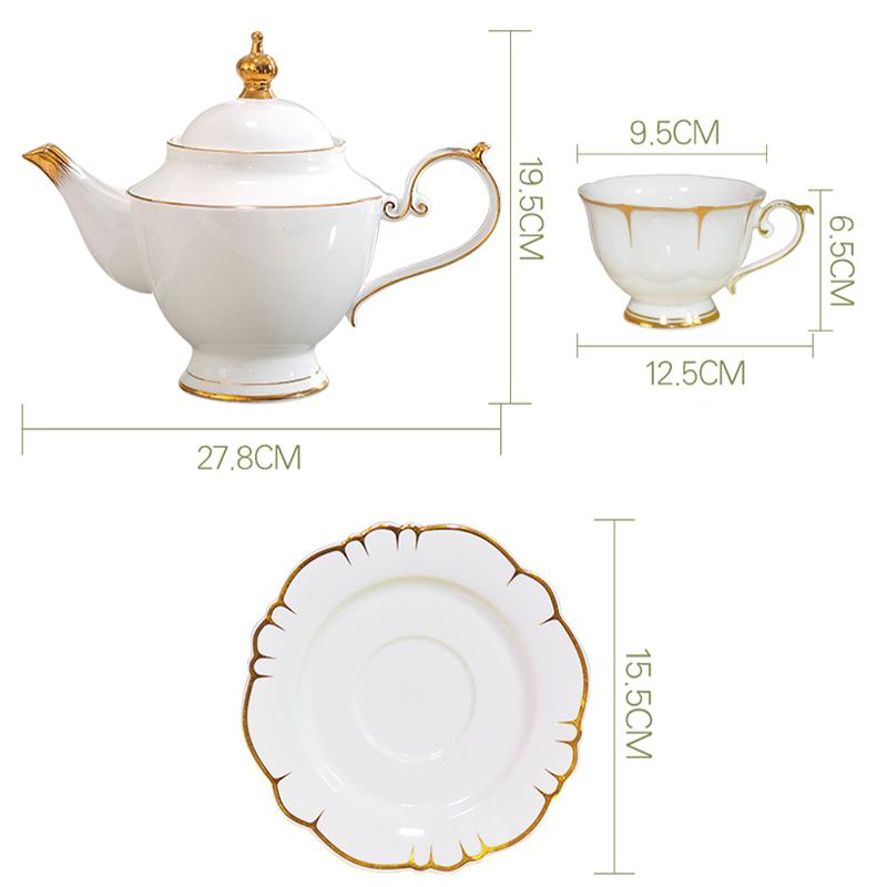 """Years""Gold Side Teacup Set - HGHOM"