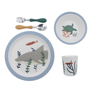Sebra - Melamine Dinner set, Seven Seas