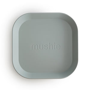 Mushie - Plates Square (set van 2) - Sage