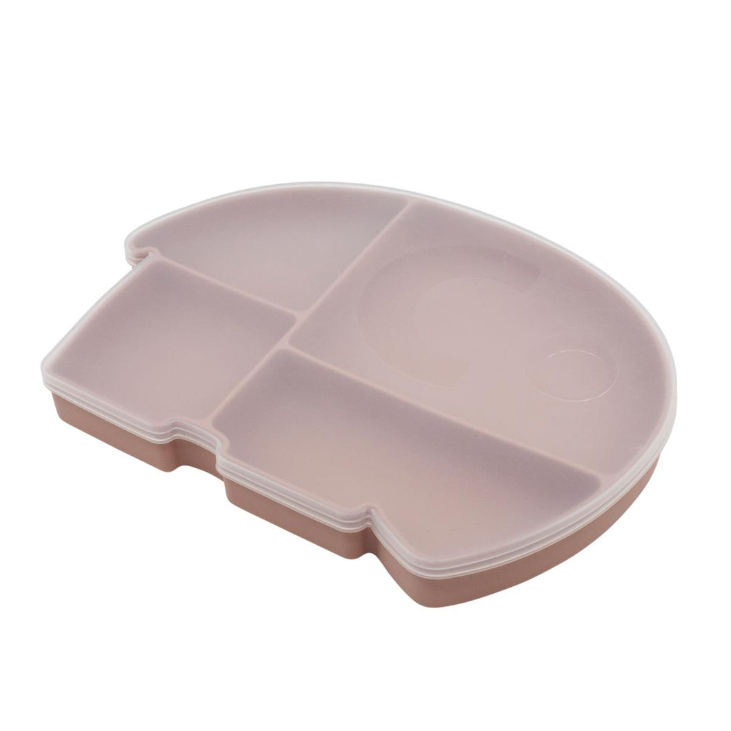 Sebra Silicone Plate with lid Fanto the Elephant - Blossom Pink