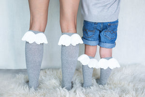 Mama's Feet Kniekousen Angels - Grey