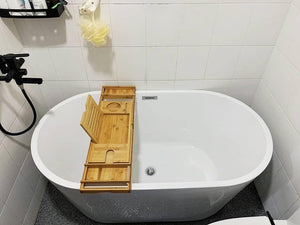 BAMBOO TRAY Bathtub Bamboo Tray, Brown, Bamboo, Bathtub Bamboo Tray - SaniQUO | The Concept Store For Your Bathroom