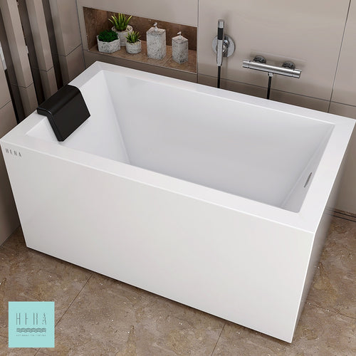 Hera Bathtub 1002, Portable Long Bath with Resting Pillow - SaniQUO | The Concept Store For Your Bathroom