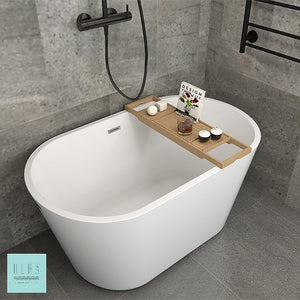 Hera Bathtub 1005 OVAL Stand Alone | The Mini Bathtub for your Home Spa - SaniQUO | The Concept Store For Your Bathroom