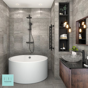 Hera Bathtub 3050 Round Shape Standalone Tub - SaniQUO