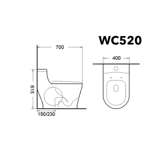 Wc-520 Water Closet (while Stock Lasts) - SaniQUO | The Concept Store For Your Bathroom