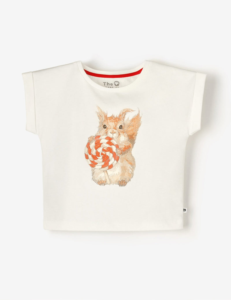 Cap Sleeve Tee - Lolly Squirrel - The QT