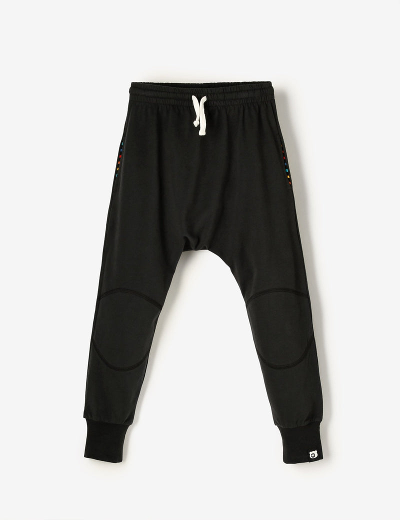 Knee Patch Jersey Joggers - Black Ink - The QT