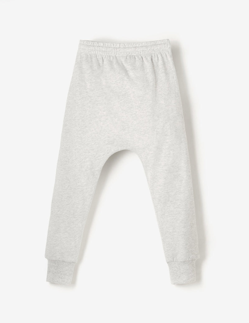 Knee Patch Jersey Joggers - Grey Marl - The QT
