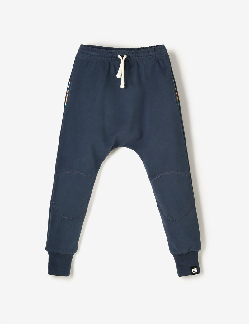 Knee Patch Terry Joggers - Navy - The QT