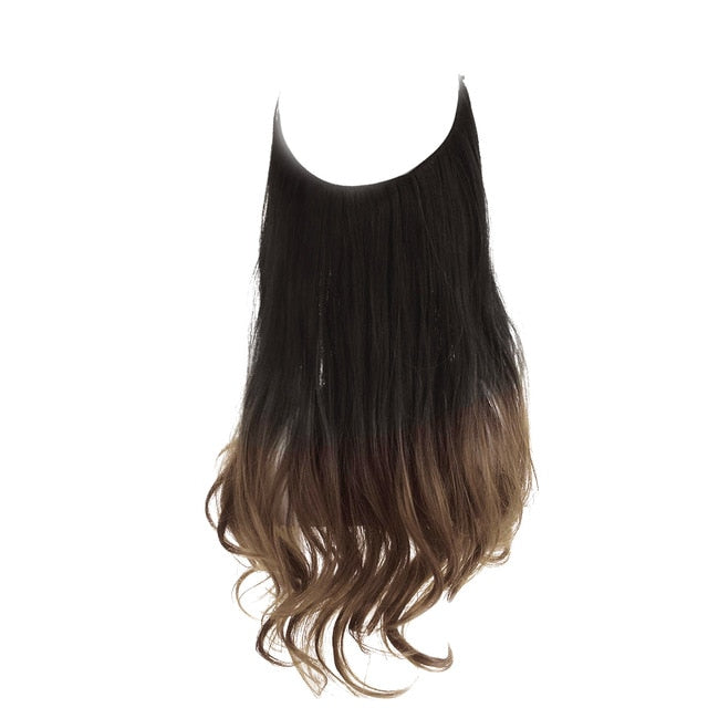 No Clip Wavy Halo Hair Extensions