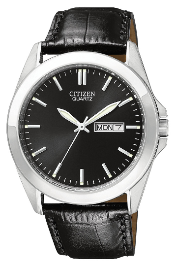CITIZEN MEN'S LEATHER STRAP