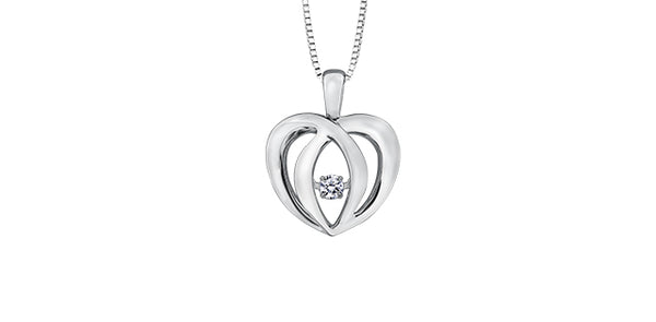 PULSE SILVER DIAMOND NECKLACE