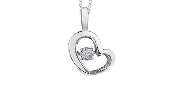 PULSE WHITE GOLD W/DIAMOND NECKLACE