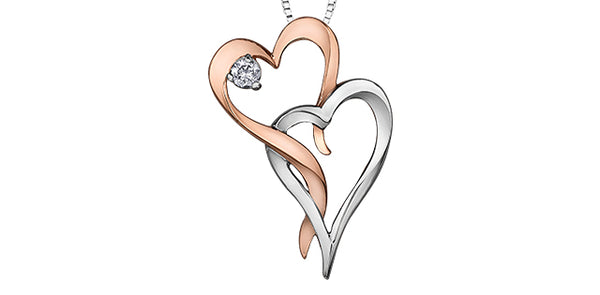 HEART NECKLACE W/CANADIAN DIAMOND