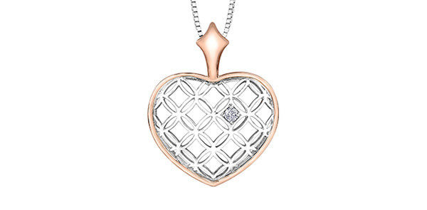 HEART NECKLACE WITH CANADIAN DIAMOND
