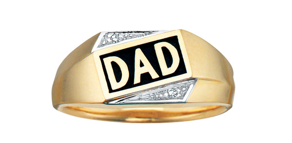 DAD RING WITH DIAMONDS