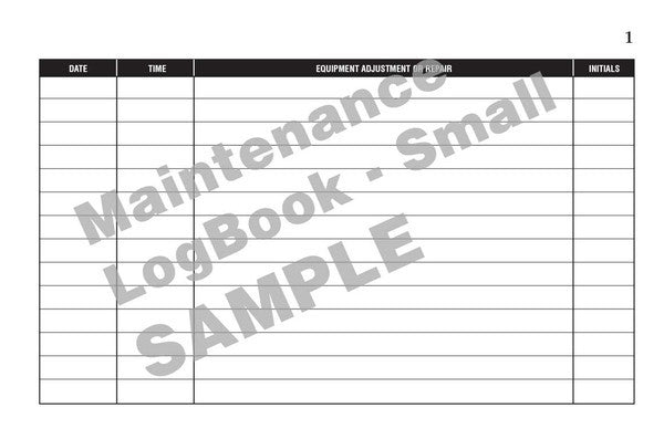 Equipment Maintenance Log Book #116