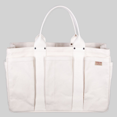Thread-line Tokyo Heavy Canvas Tool Tote M, White