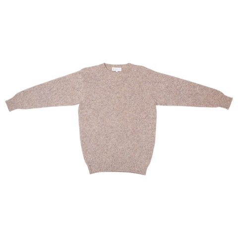 Shetland Woollen Co. Shaggy Dog Sweater, Mushroom